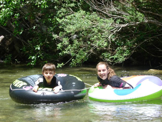 Children can enjoy the clear, cool Big Sur river