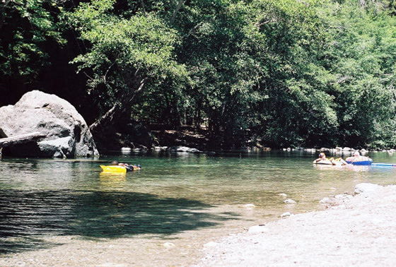 Lazy float in the Big Sur River